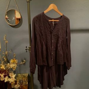 Free People high low Peasant blouse